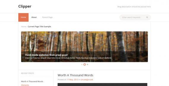 clipper – multipurpose psd template screenshot 1
