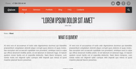 quiven – creative psd template screenshot 2