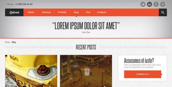 quiven – creative psd template screenshot 6