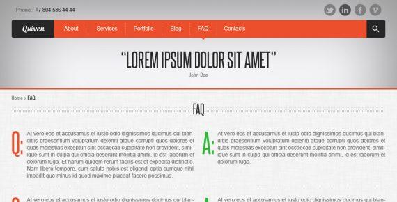 quiven – creative psd template screenshot 8