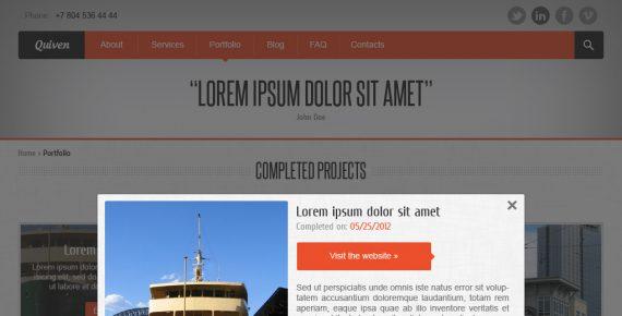 quiven – creative psd template screenshot 5