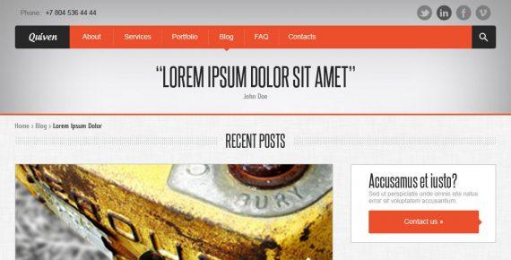 quiven – creative psd template screenshot 7