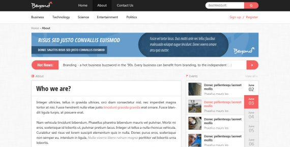 beyond – multi-purpose psd template screenshot 6