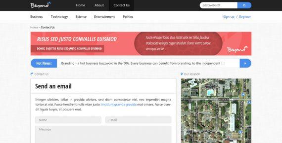 beyond – multi-purpose psd template screenshot 13