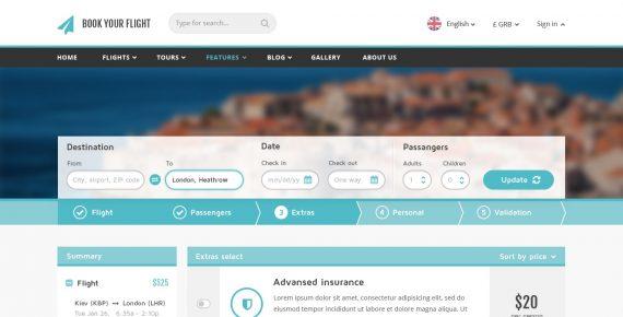 book your flight – booking psd template screenshot 5