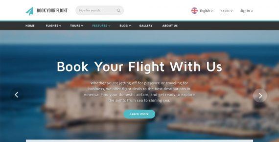 book your flight – booking psd template screenshot 2