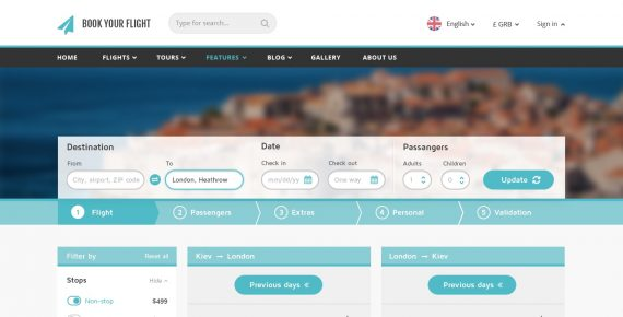 book your flight – booking psd template screenshot 3