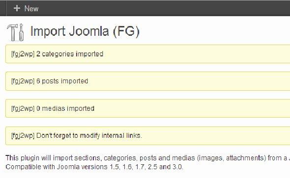 joomla-import-success
