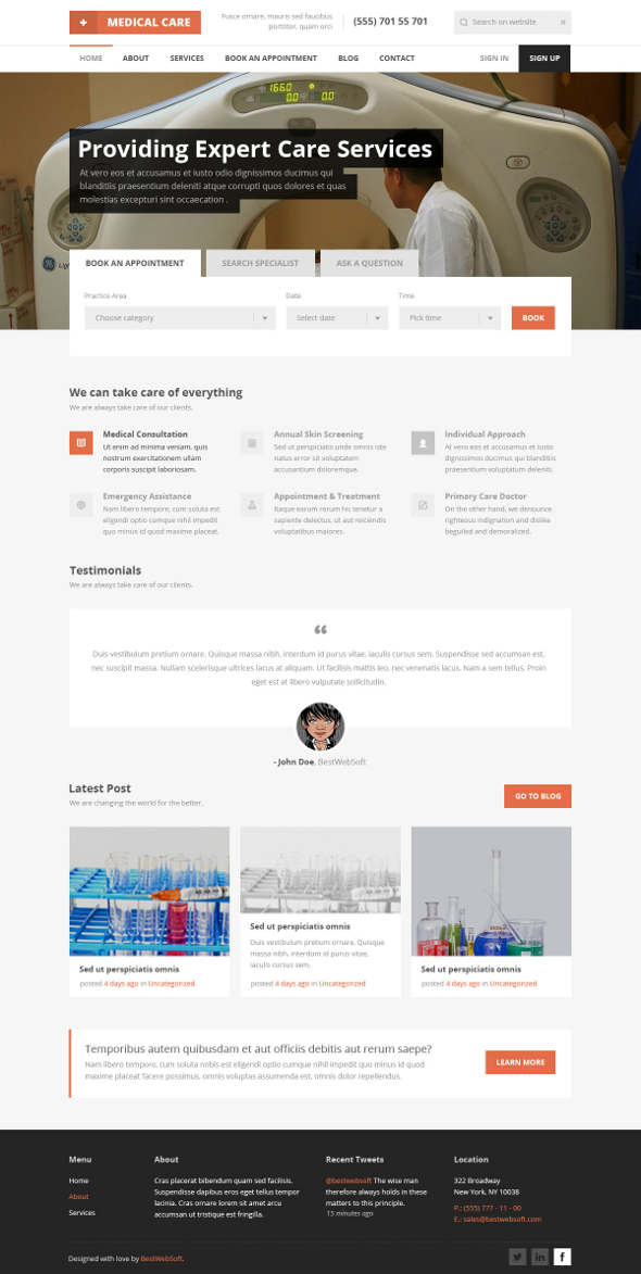 medical care template