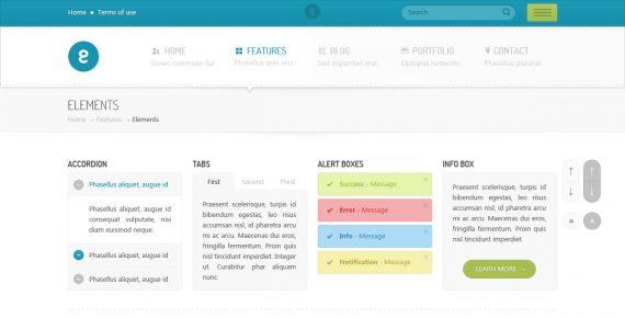 nameless – creative agency psd template screenshot 3