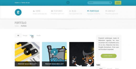 nameless – creative agency psd template screenshot 8