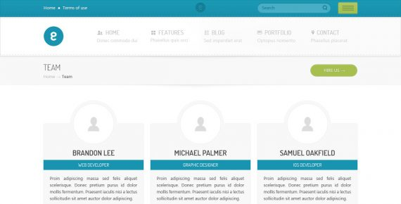 nameless – creative agency psd template screenshot 11