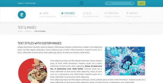 nameless – creative agency psd template screenshot 4