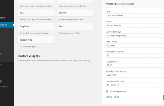 wordpress plugin screenshot 1