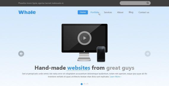 whale – creative html5 template screenshot 1
