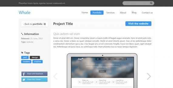 whale – creative psd template screenshot 4