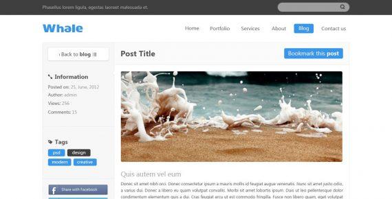 whale – creative psd template screenshot 8