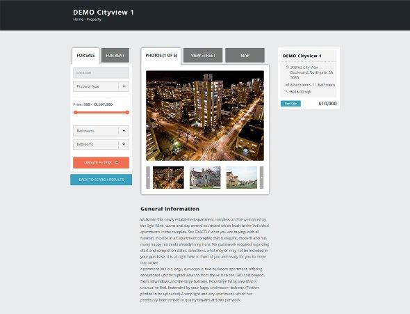 Single Property Photo tab page