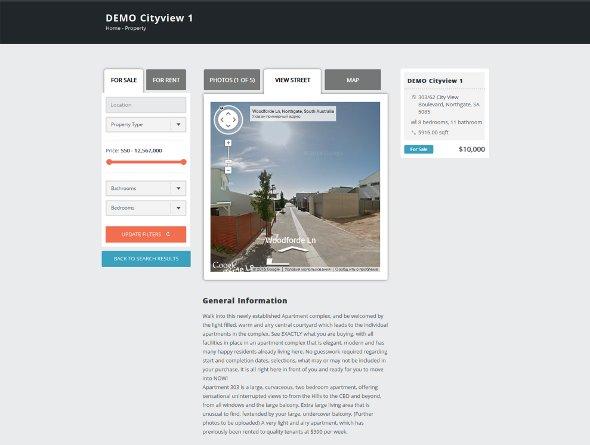 Single Property View Street tab page