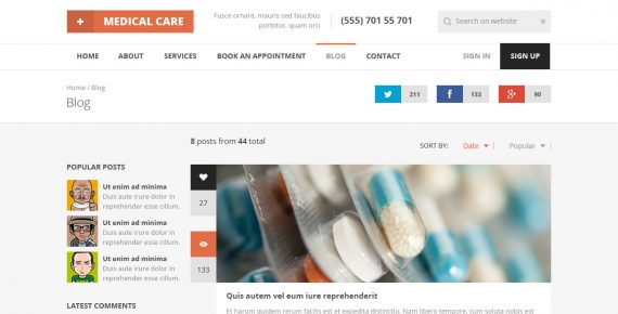 medical care – medical psd template screenshot 20