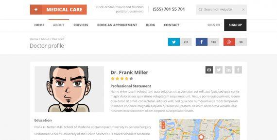 medical care – medical psd template screenshot 9