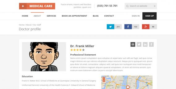 medical care – medical psd template screenshot 10