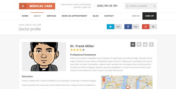 medical care – medical psd template screenshot 11