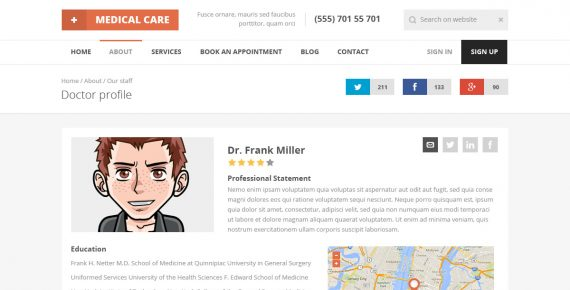 medical care – medical psd template screenshot 14