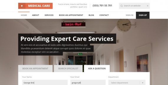 medical care – medical psd template screenshot 3