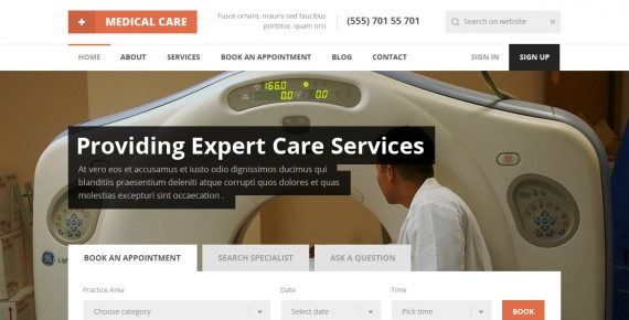 medical care – medical psd template screenshot 1