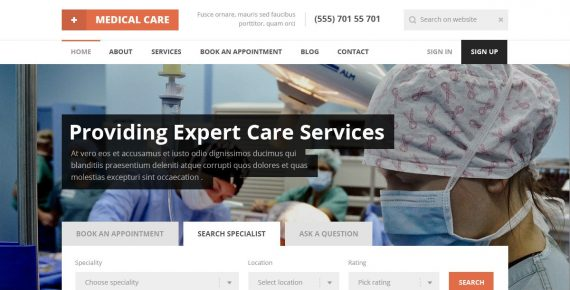 medical care – medical psd template screenshot 2