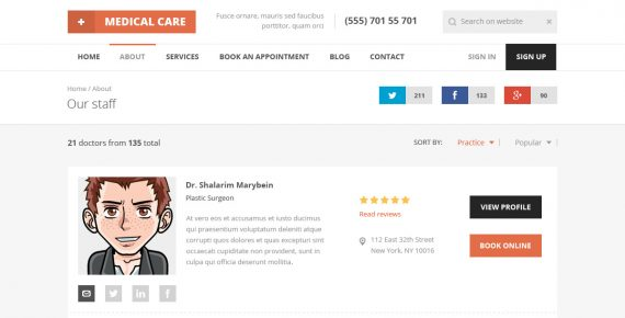 medical care – medical psd template screenshot 5