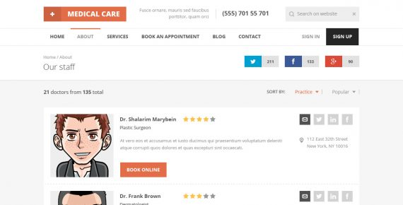medical care – medical psd template screenshot 6
