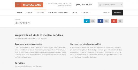 medical care – medical psd template screenshot 16