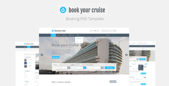 book-your-cruise-booking-psd-template