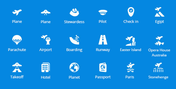book-your-flight-vector-icons