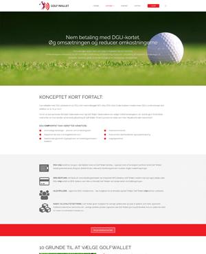 golfwallet – wordpress design & development screenshot 2
