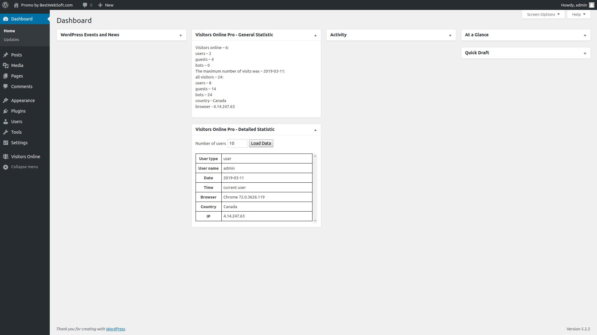 visitors online screenshot 3