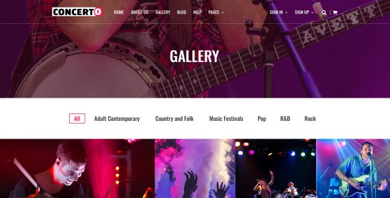 concerto – music events & tickets psd template screenshot 8