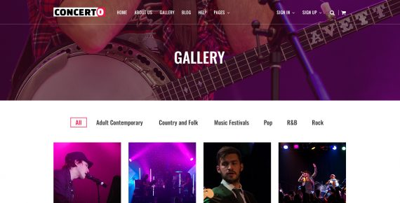 concerto – music events & tickets psd template screenshot 6