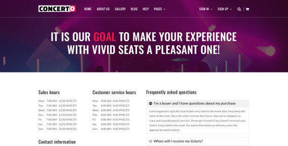 concerto – music events & tickets psd template screenshot 9