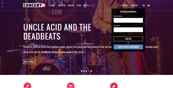 concerto – music events & tickets psd template screenshot 10