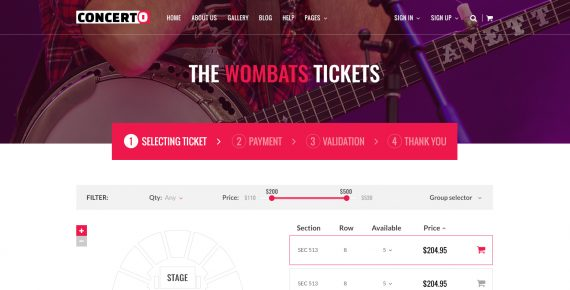 concerto – music events & tickets psd template screenshot 17