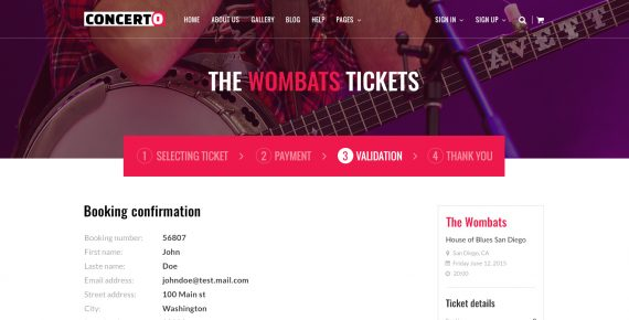 concerto – music events & tickets psd template screenshot 25