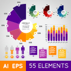 infographic elements template – vector pack screenshot 1
