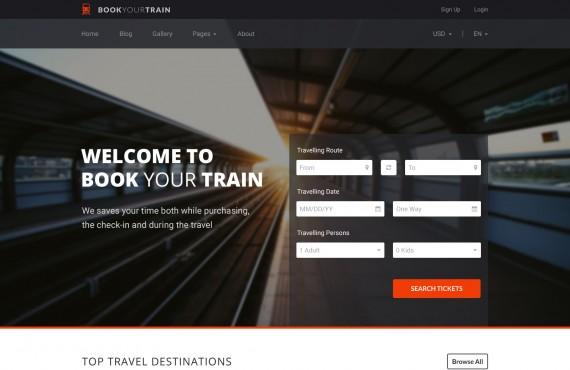 book your train – online booking psd template screenshot 11