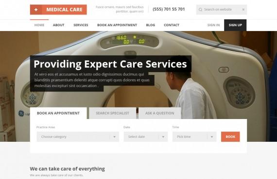 medical care – medical psd template screenshot 21