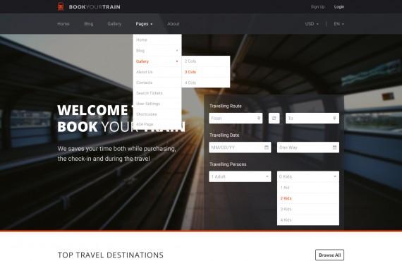 book your train – online booking psd template screenshot 20