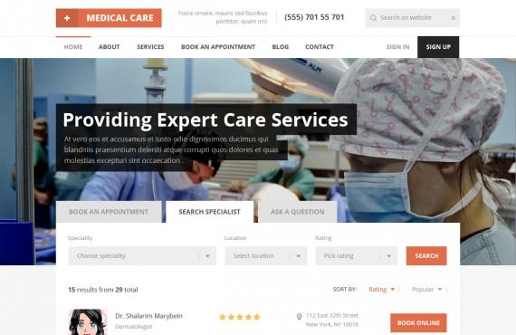 medical care – medical psd template screenshot 22