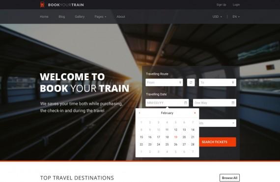book your train – online booking psd template screenshot 19